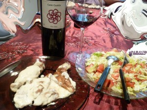 Our pairing with Plus Ultra red wine