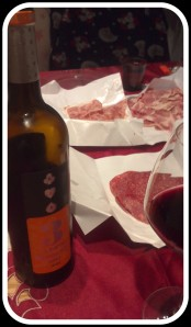 3 Ases Roble with Spanish cold cured meat