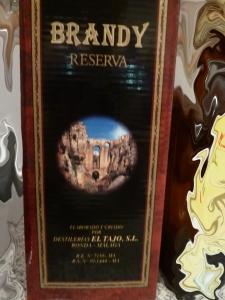 Brandy Reserva El Tajo. Suberb.