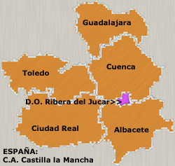 Map of Ribera del Júcar (Spain)