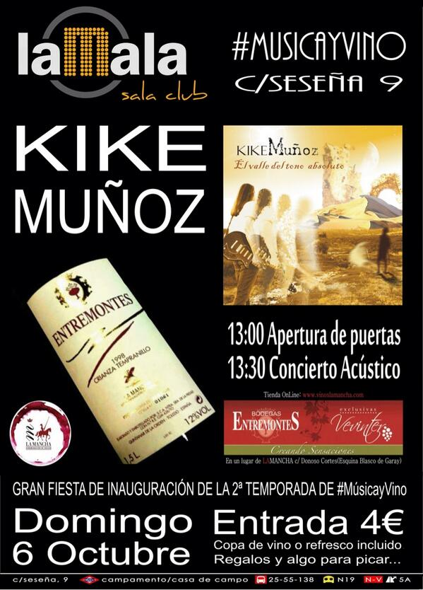 Music and Wine in Madrid with wines of Entremontes.