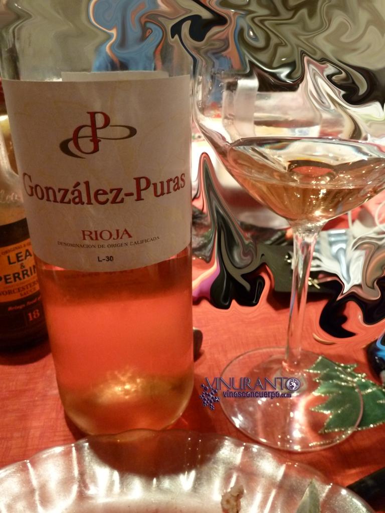 Rosé wine Gonzalez Puras. Rioja.
