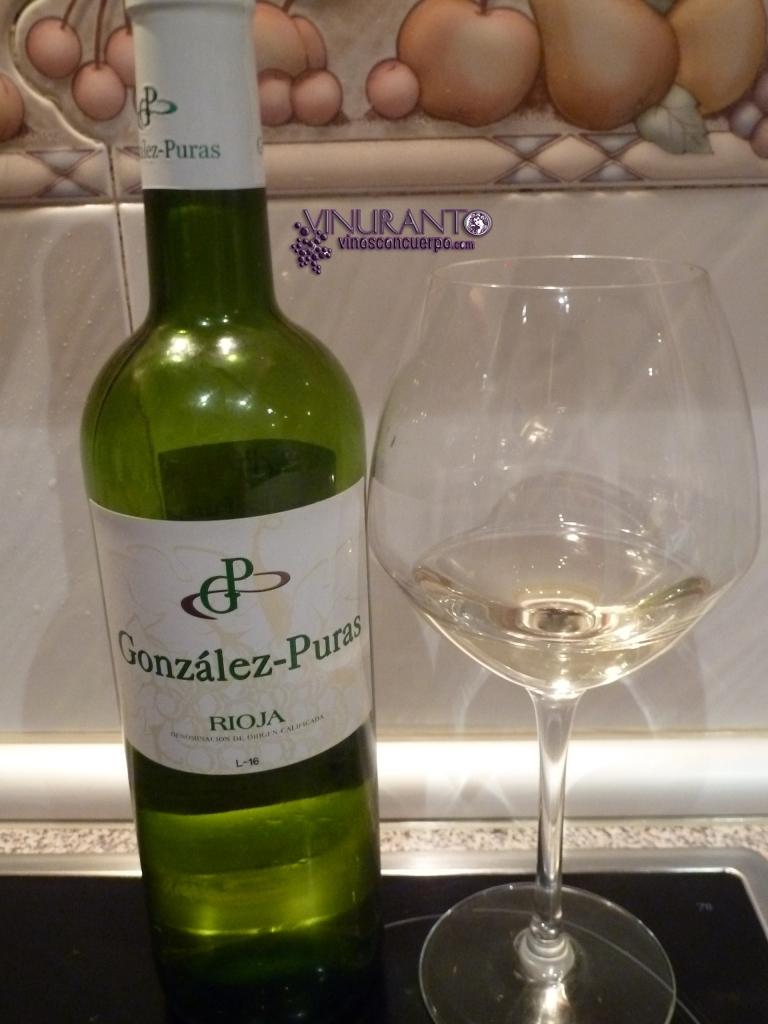 Gonzalez Puras white wine. Rioja. Spain.