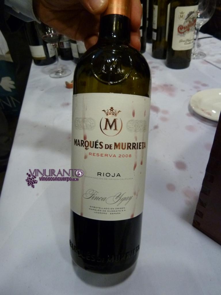 Marques de Murrieta 2008. Delightful.