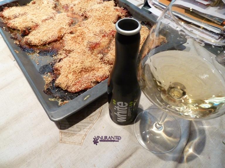 White Morena and delicious Italian chicken.
