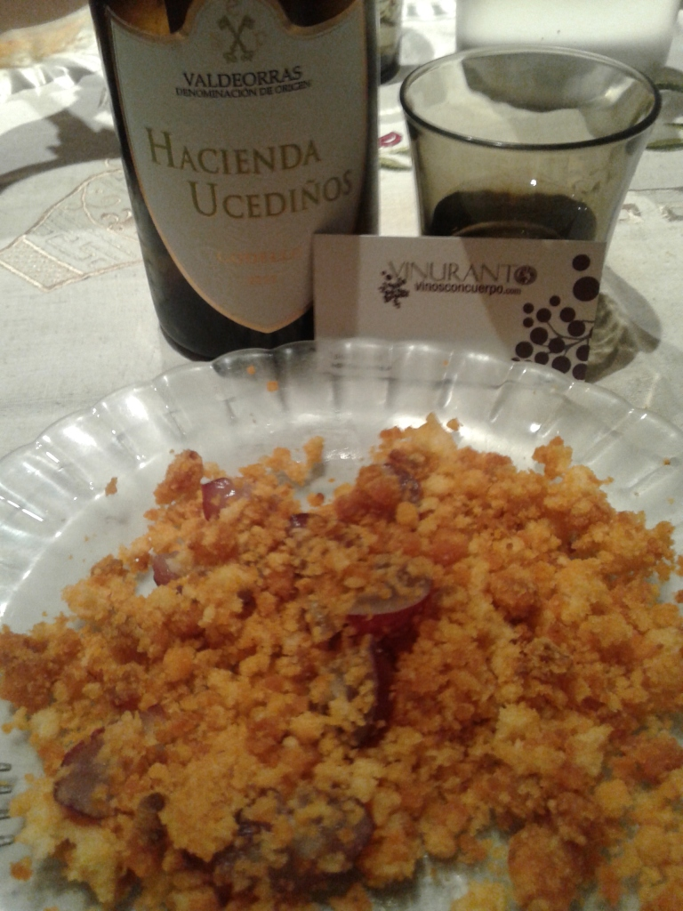 Hacienda Ucediños and migas- Delicious combination!