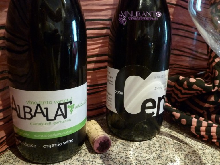 Cero 2009 and Albalat 2012. Organic wine from Alicante, Spain.