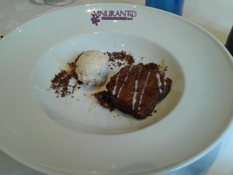 Brownie at Torreblanca Restaurant.