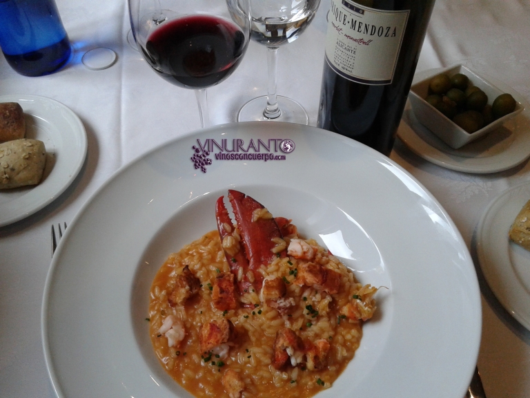 Lobster risotto at Torreblanca Restaurant (Madrid, Spain)