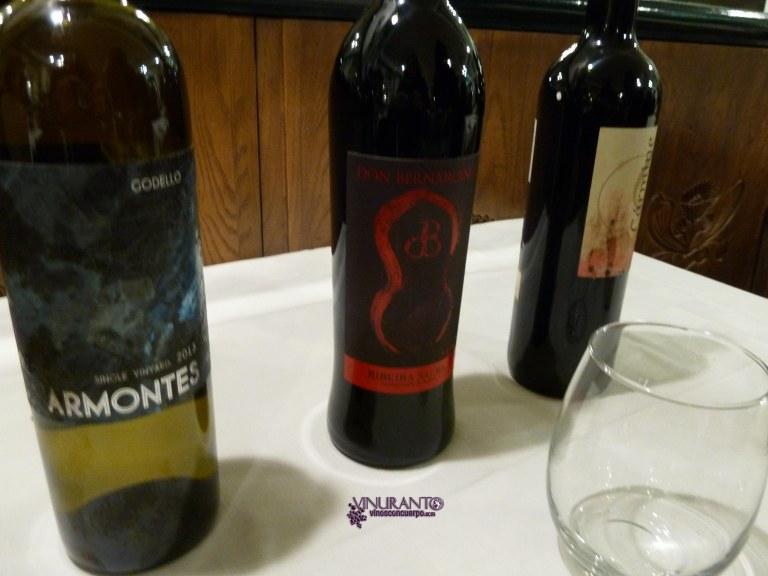 Wines at Restaurante Manolo.