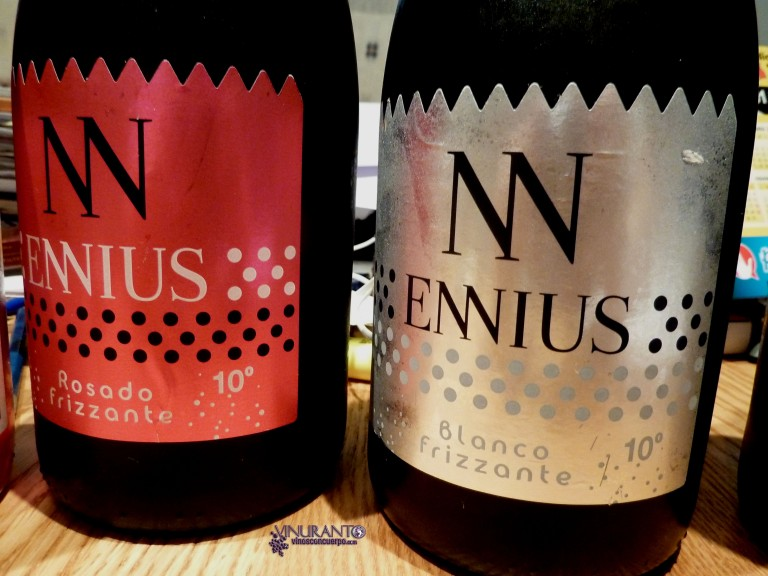 Enniuis pink and white wines. From Spain.