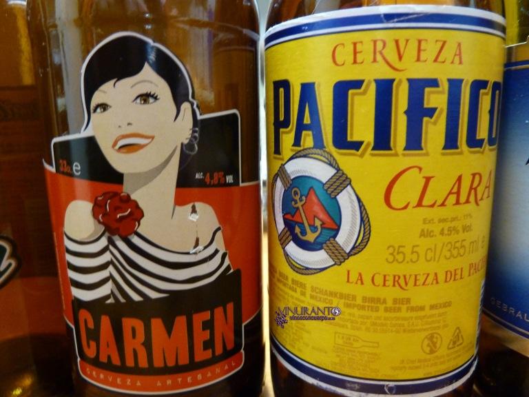 Carmen (Madrid) -Hancrafted beer-. Pacífico (México).