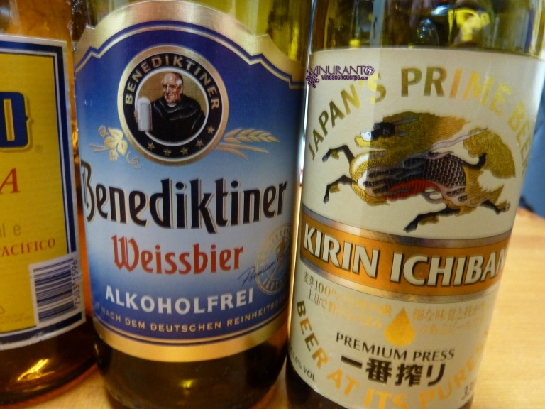 Benediktiner (German beer, alcohol free). Kirin Ichin (Japón).