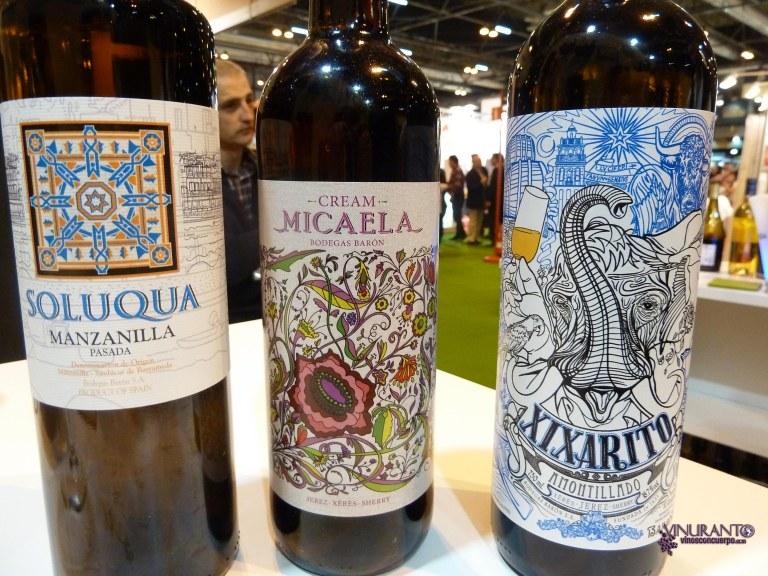 Soloqua, Micaela y Xixarito. Manzanilla, Cream y Amontillado. Cádiz.