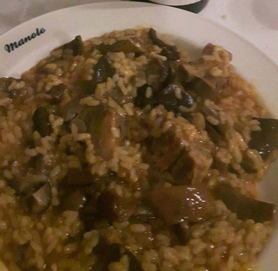 Boletus and chop risotto
