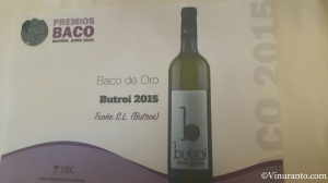 Butroi Winery Award.